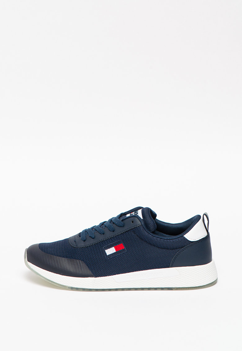 Pantofi sport de plasa cu garnituri de piele si piele ecologica