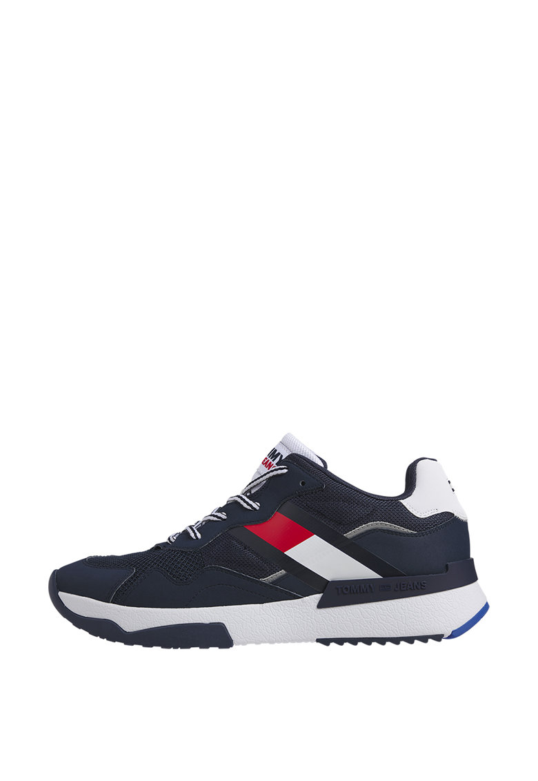 Pantofi sport de piele ecologica cu garnituri textile imagine promotie