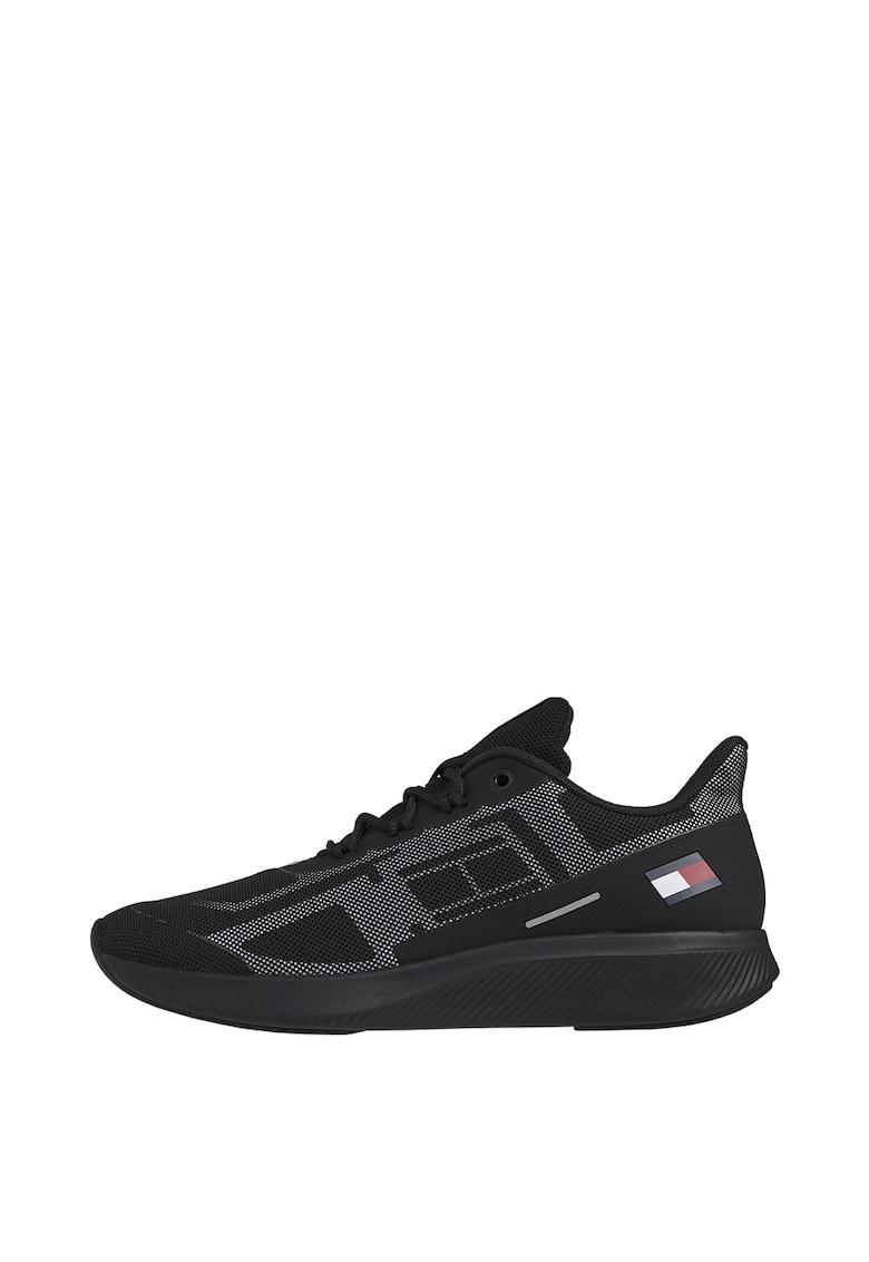 Pantofi sport din material textil cu logo