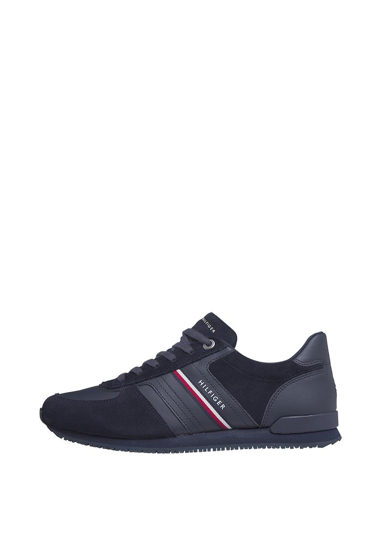Pantofi sport de piele intoarsa cu garnituri de piele ecologica imagine promotie