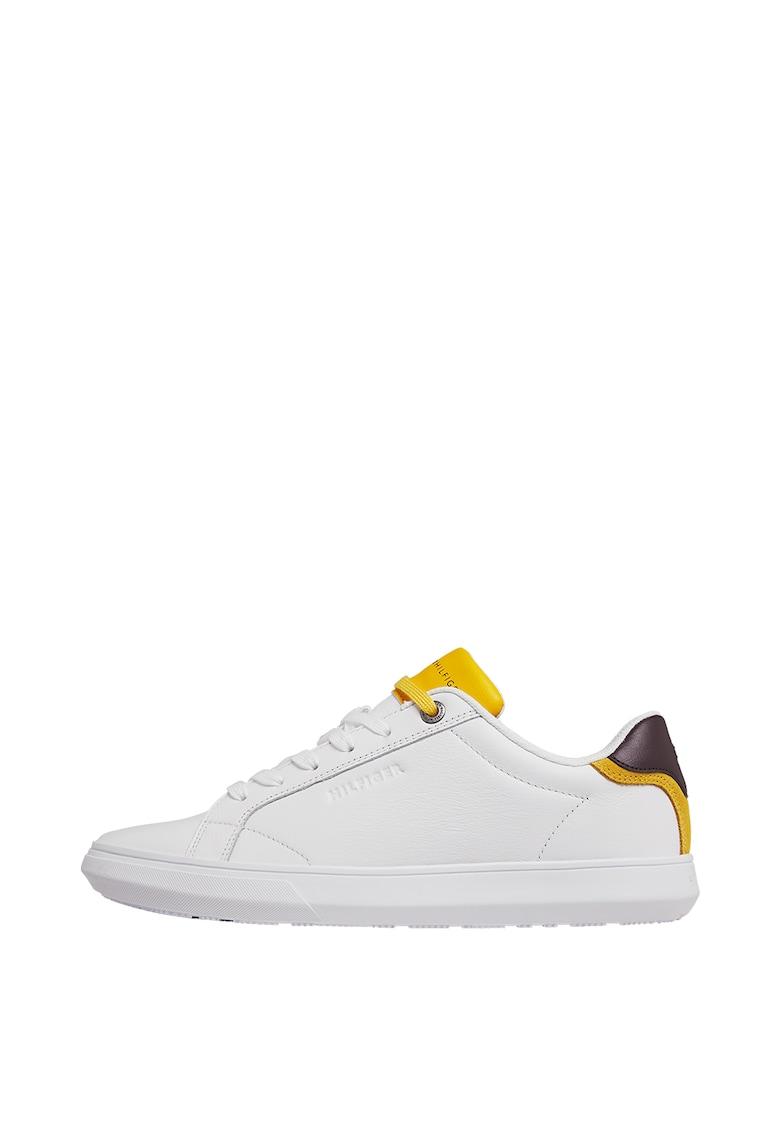 Pantofi sport de piele cu garnituri contrastante