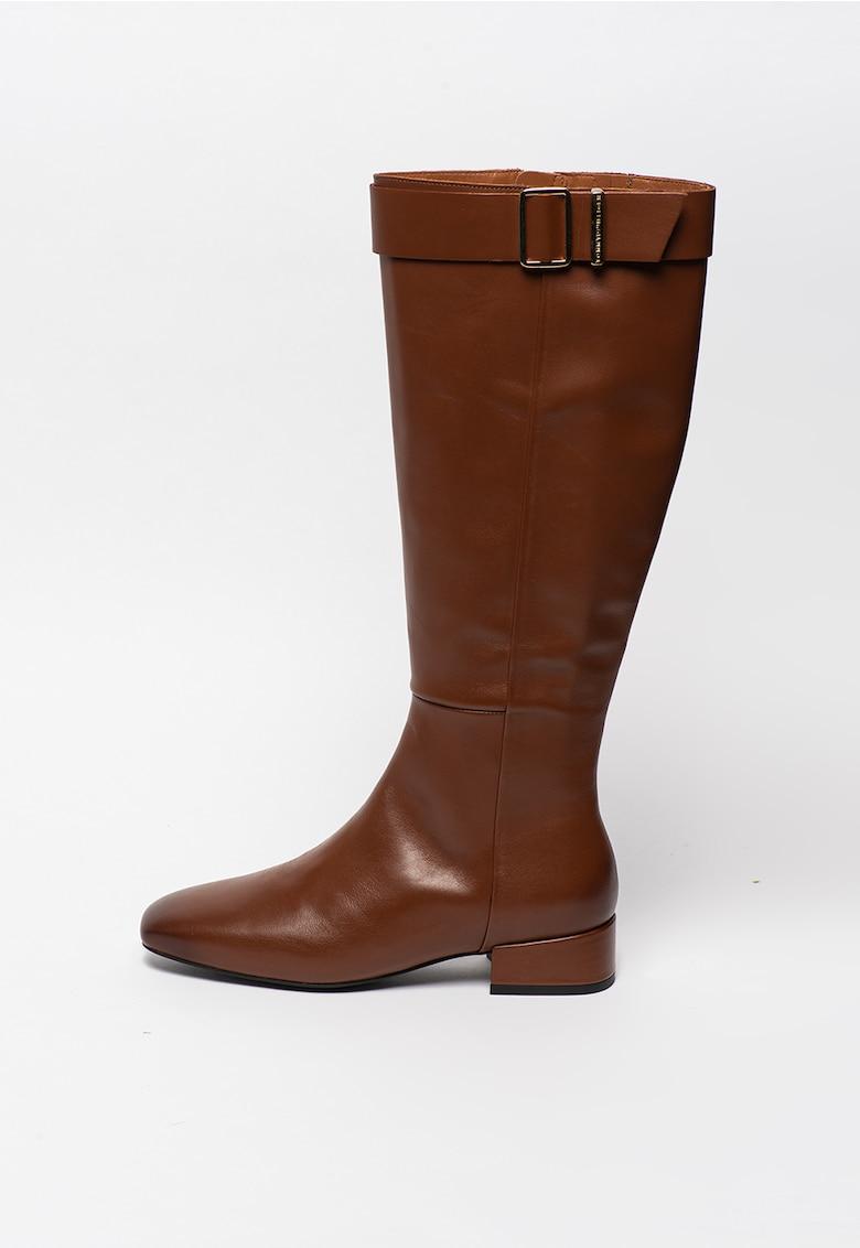 Cizme inalte pana la genunchi - de piele poza fashiondays
