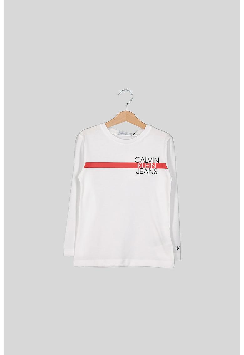 Bluza din bumbac organic cu imprimeu logo