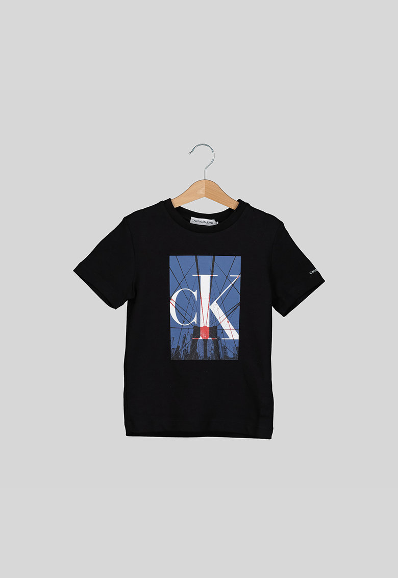 Tricou cu imprimeu logo si grafic