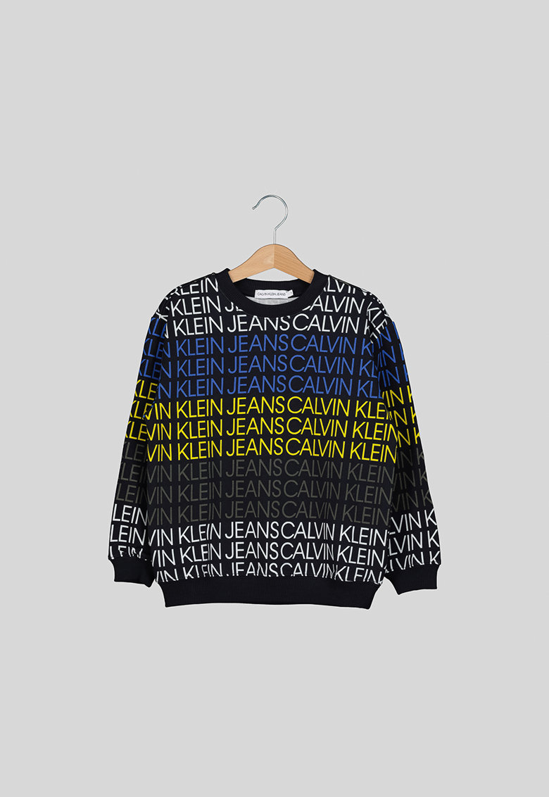 Bluza sport de bumbac organic cu model logo