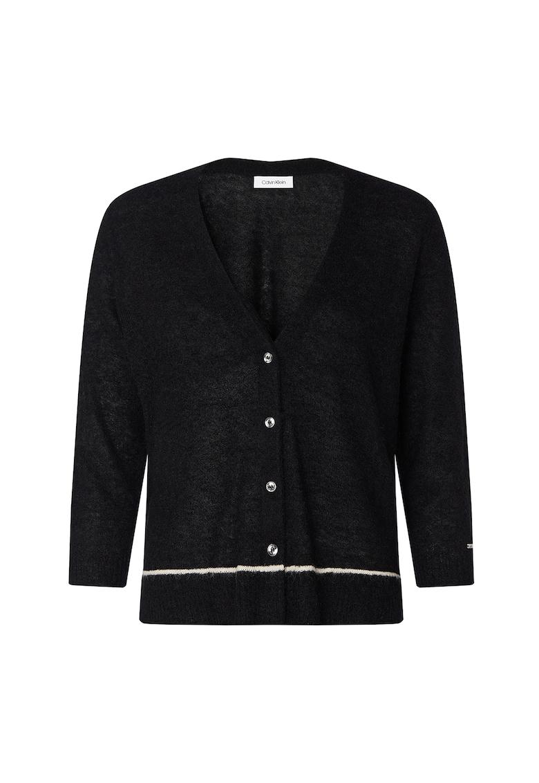 Cardigan din amestec de lana - cu nasturi