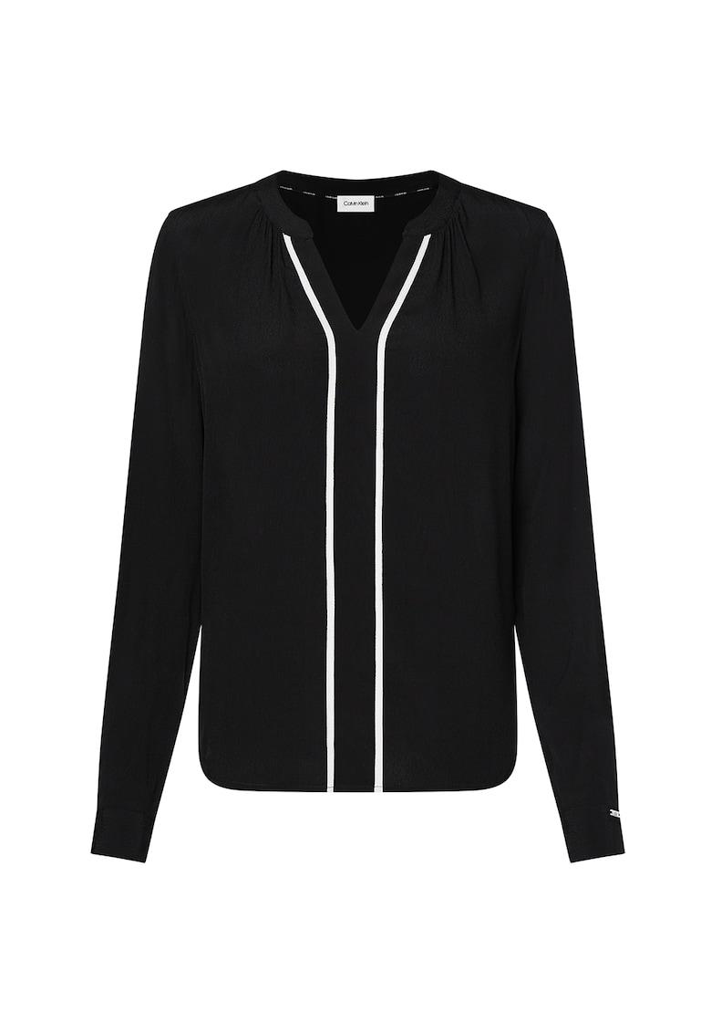 Bluza tip tunica cu accente contrastante imagine promotie