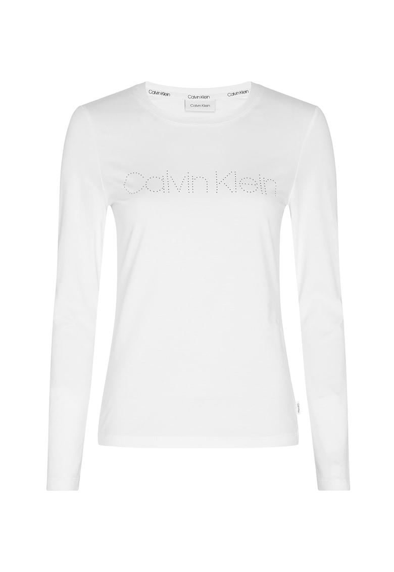Bluza din amestec de bumbac organic - cu logo imagine promotie