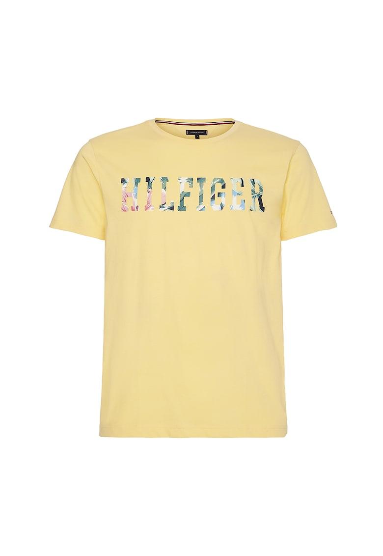 Tricou din bumbac organic cu imprimeu logo imagine
