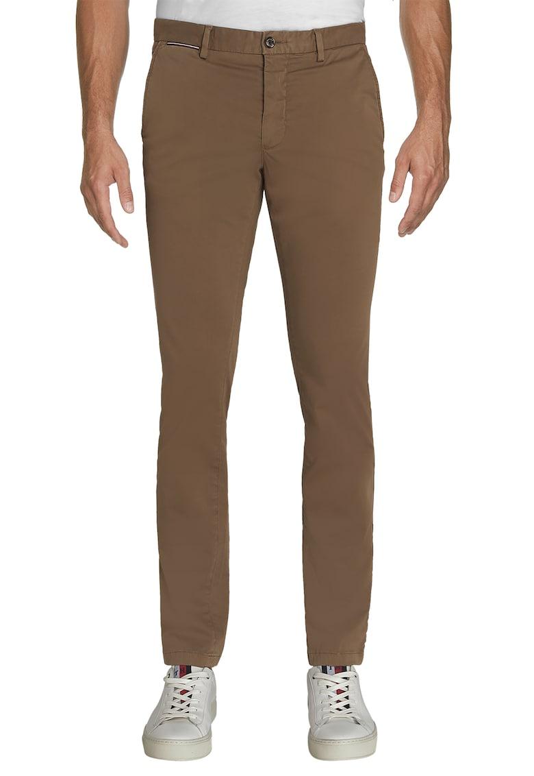 Pantaloni chino drepti din amestec de bumbac organic