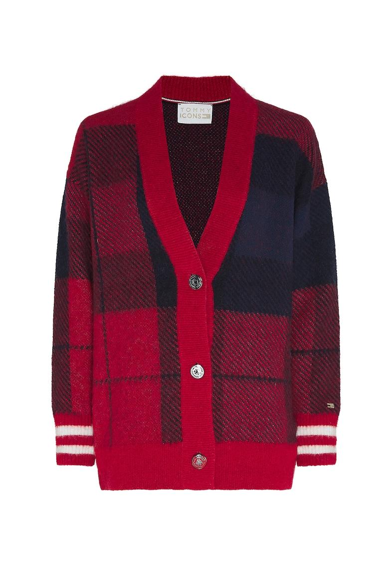 Cardigan din amestec de lana