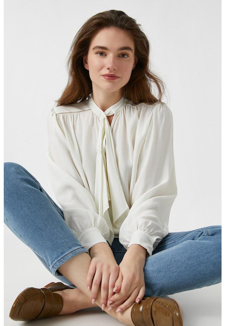 Bluza cu funda din panglici imagine
