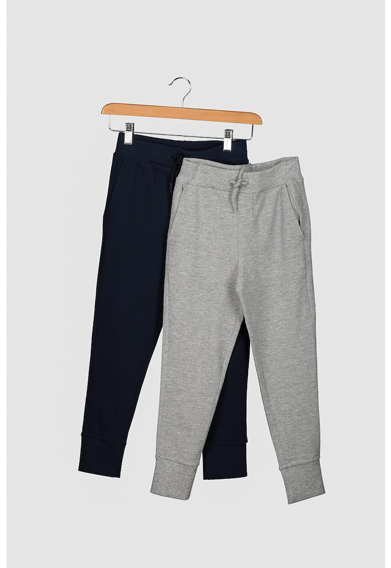 Set de pantaloni sport cu cordon in talie - 2 perechi imagine