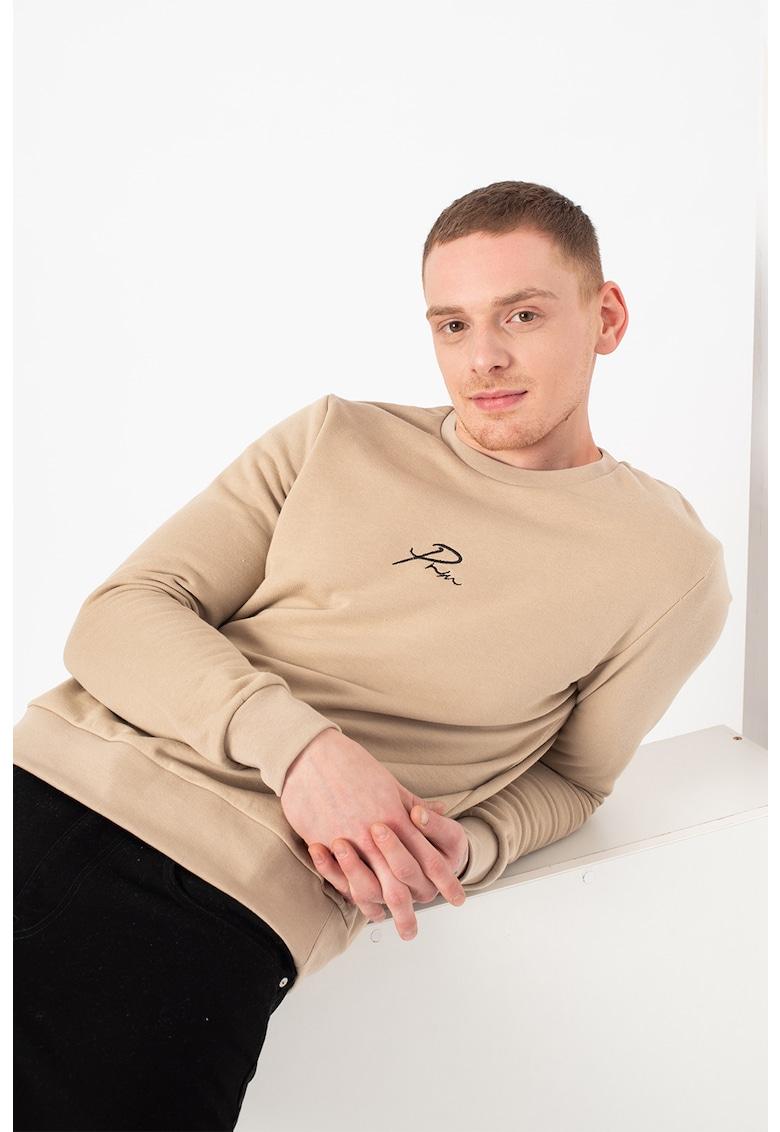 Bluza sport regullar fit cu decolteu la baza gatului poza fashiondays