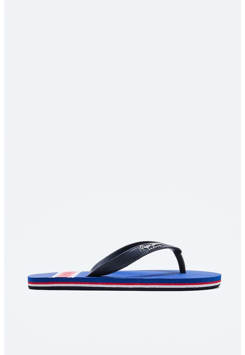 Papuci flip-flop cu talpa cu model in dungi