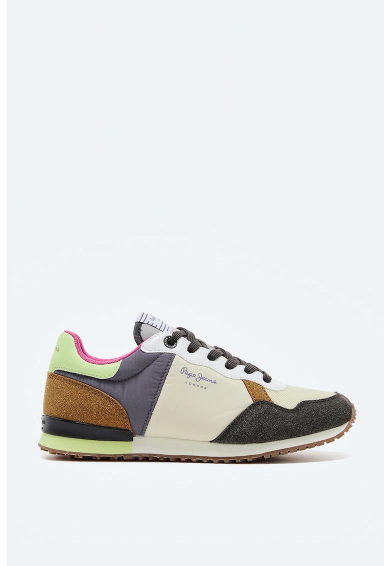 Pantofi sport din piele ecologica si piele intoarsa sintetica