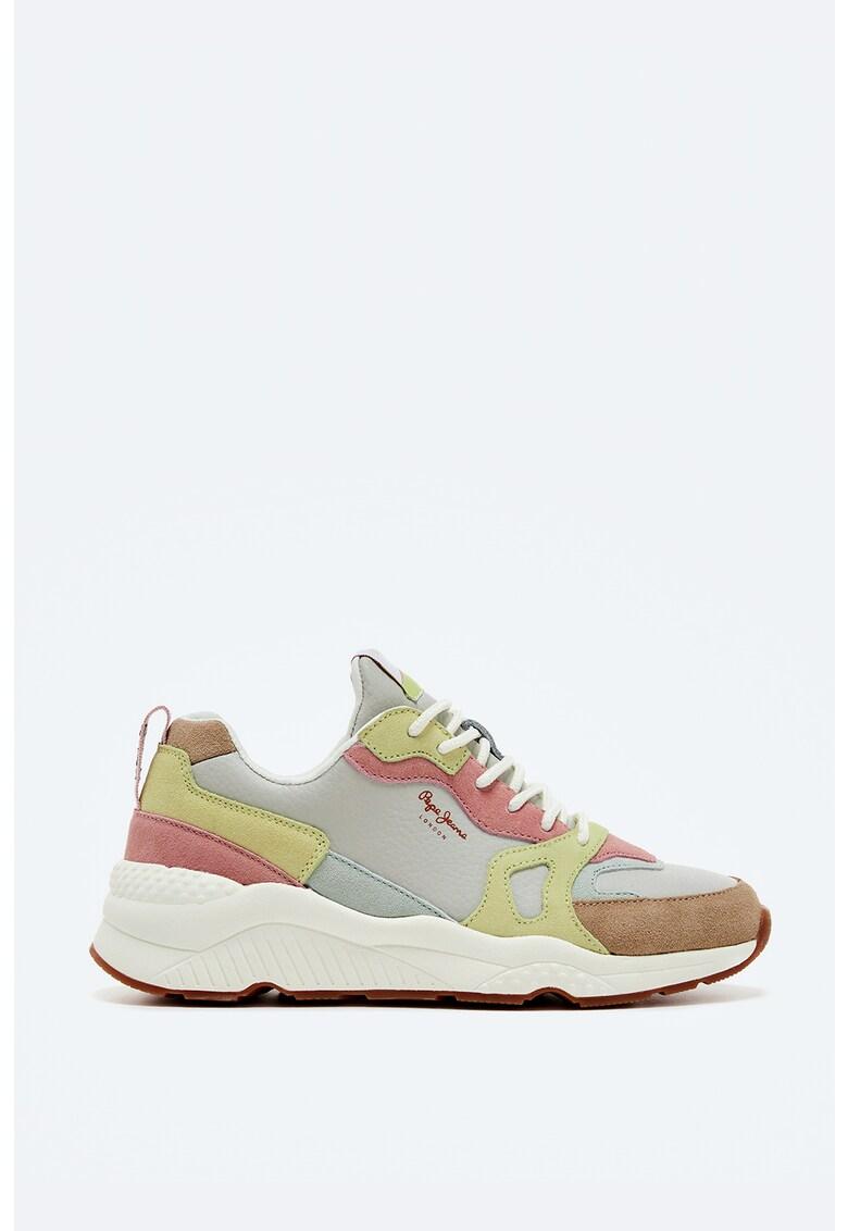Pantofi sport wedge cu insertii de piele intoarsa imagine fashiondays.ro 2021