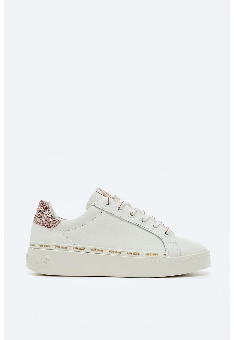 Pantofi sport din piele cu insertii stralucitoare imagine fashiondays.ro 2021