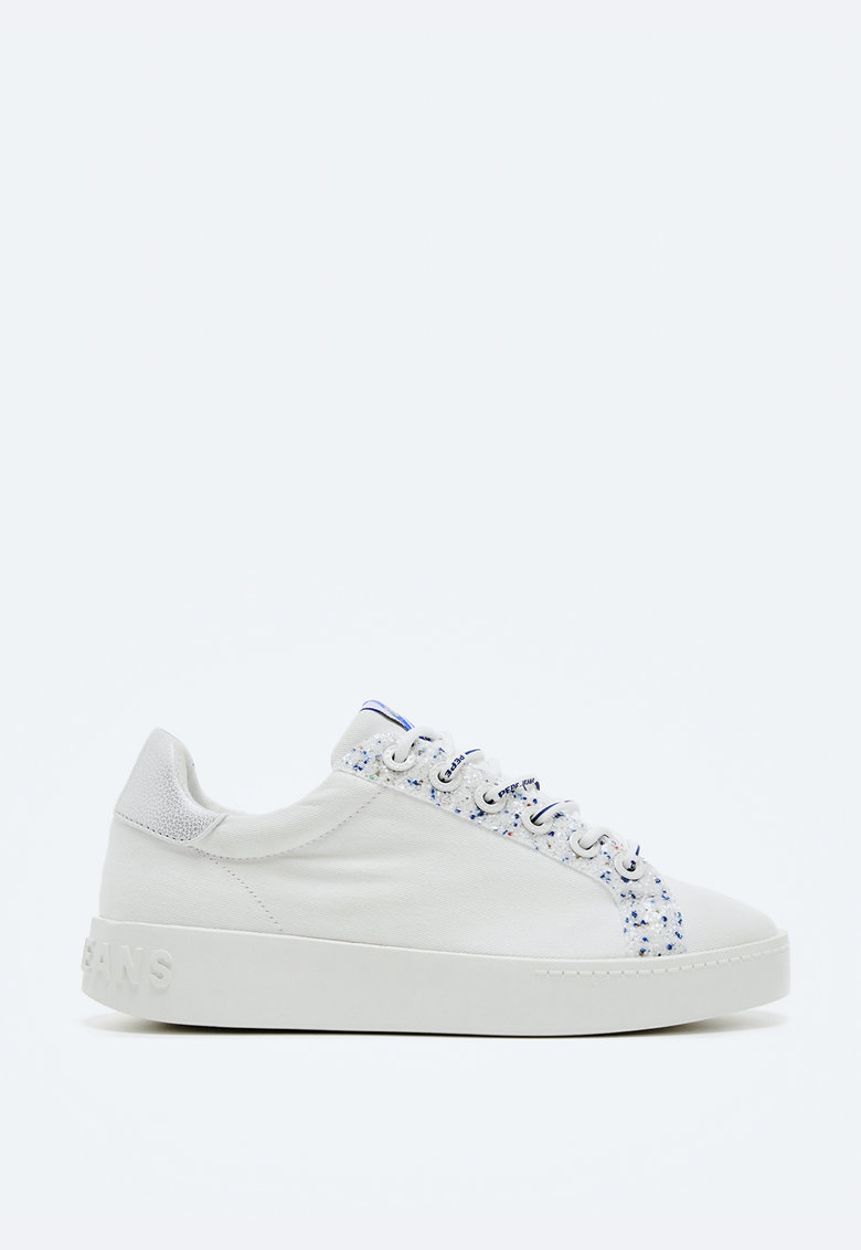 Pantofi sport din panza cu detalii stralucitoare imagine fashiondays.ro 2021