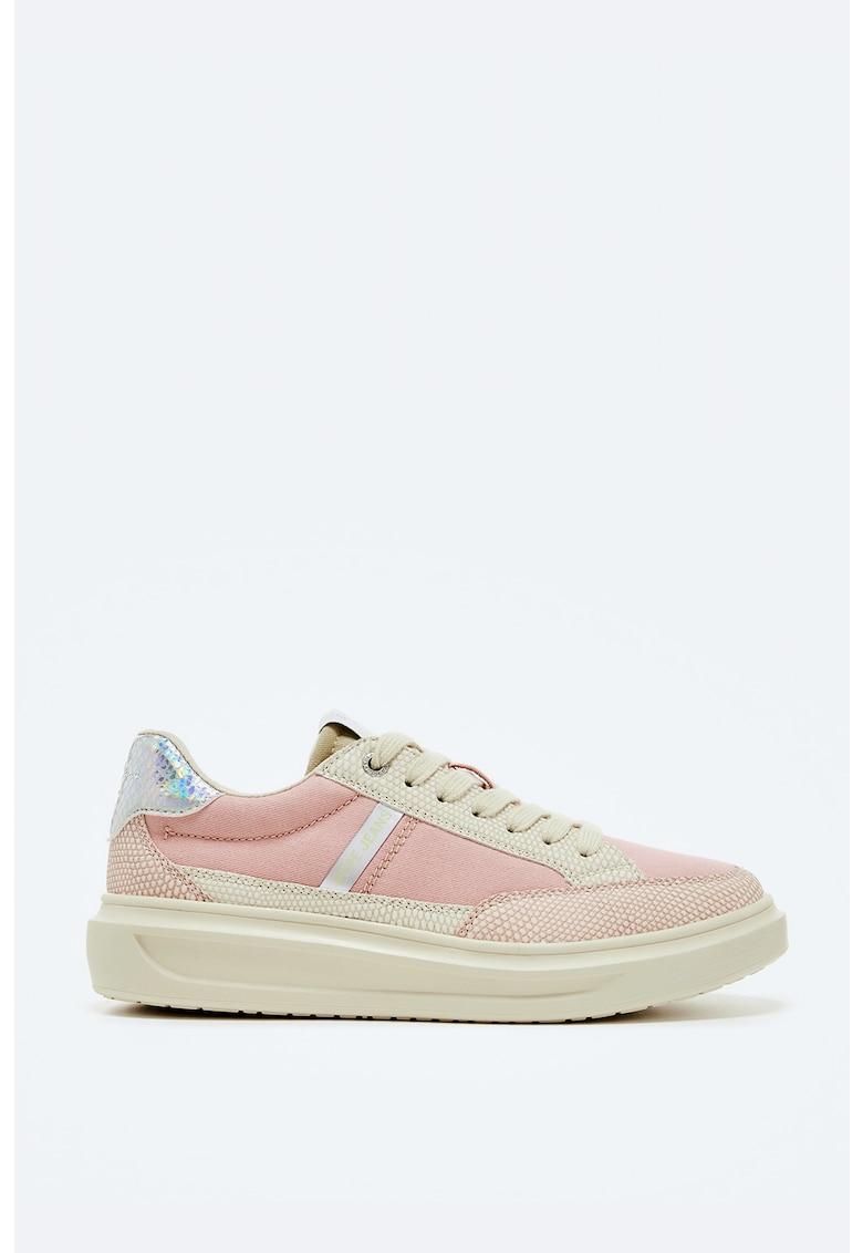 Pantofi sport din panza cu garnituri din piele ecologica imagine fashiondays.ro 2021