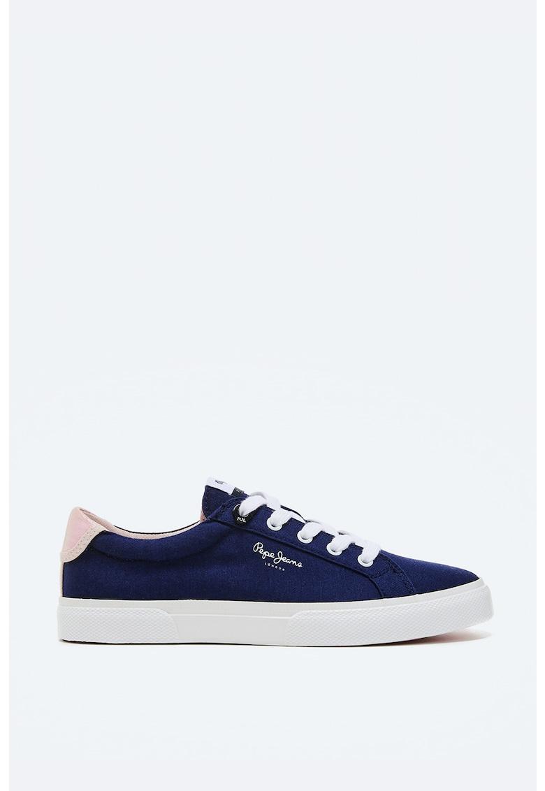 Pantofi sport din panza cu aspect de denim