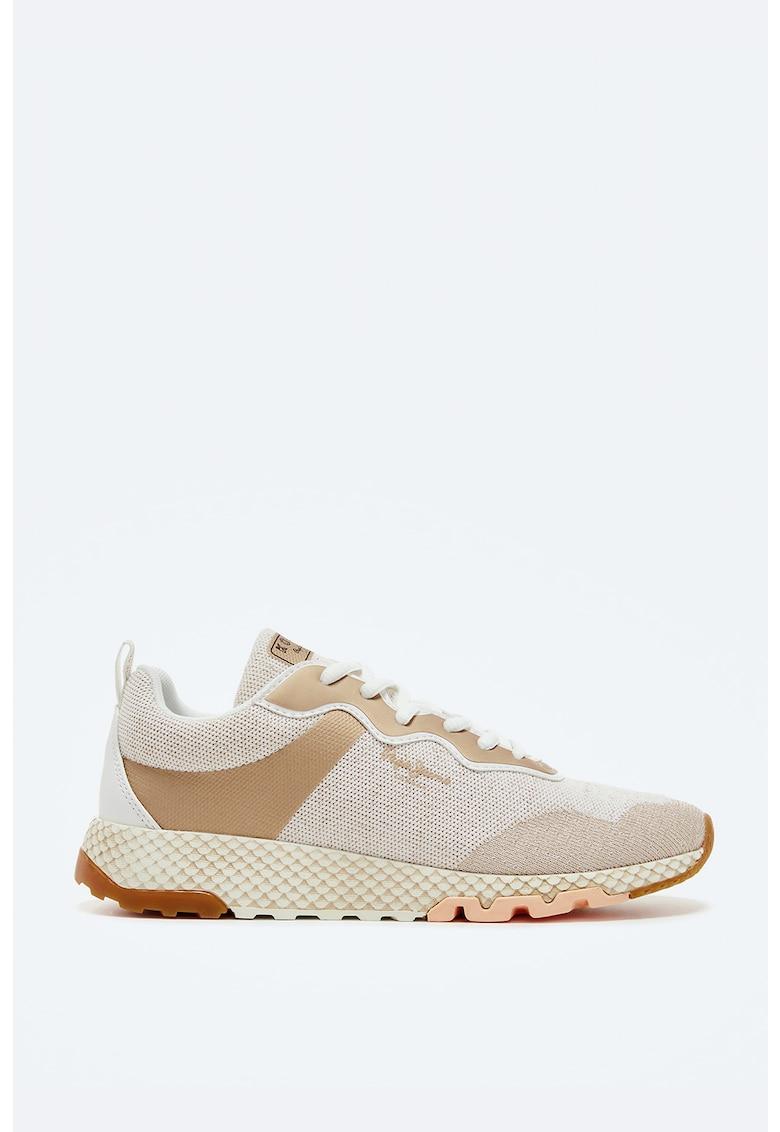 Pantofi sport cu model colorblock si detalii peliculizate