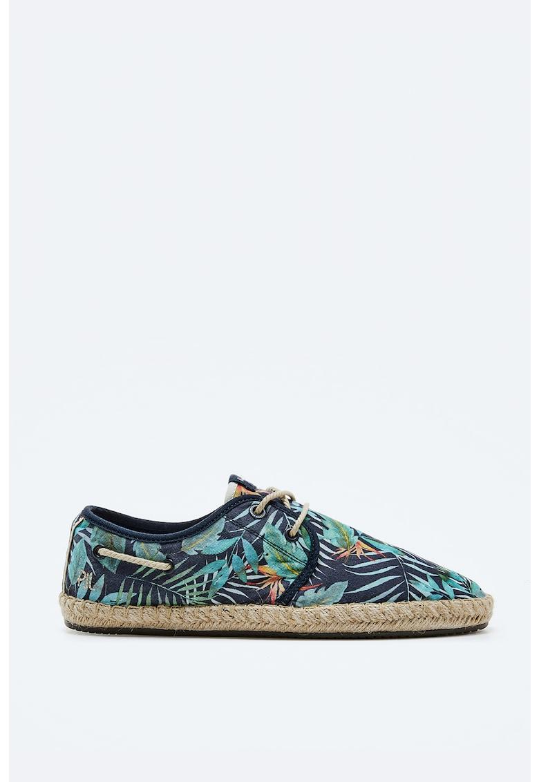 Espadrile cu imprimeu imagine fashiondays.ro Pepe Jeans London