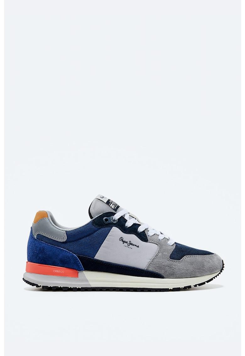 Pantofi sport cu garnituri de piele intoarsa si model colorblock imagine fashiondays.ro 2021