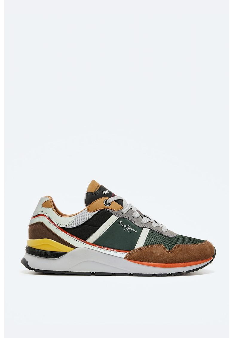 Pantofi sport de piele intoarsa cu insertii de plasa fashiondays.ro