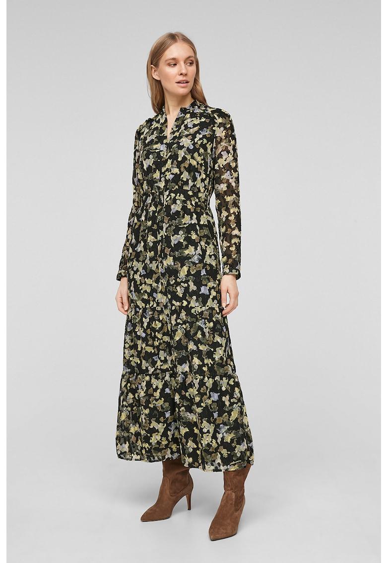 Rochie tip camasa cu imprimeu abstract