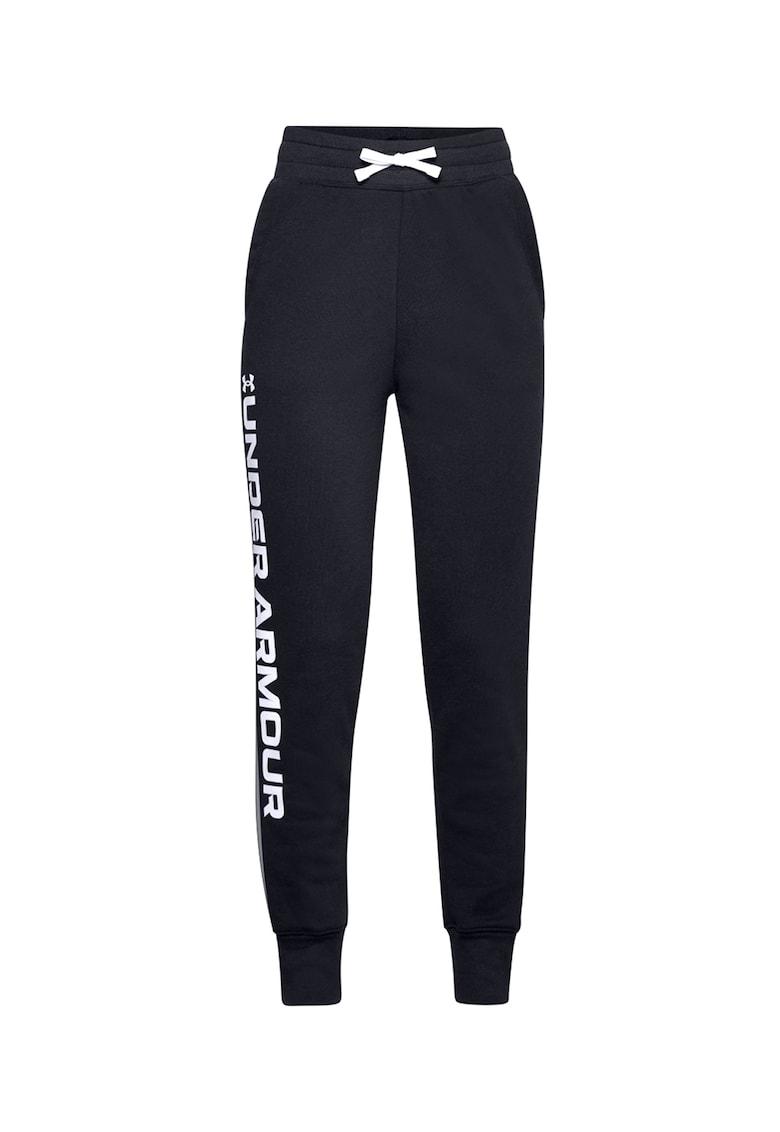 Pantaloni conici cu imprimeu logo pentru antrenament Rival
