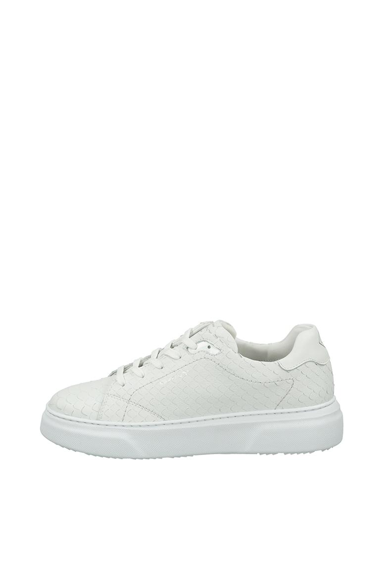 Pantofi sport din piele cu textura cu aspect de piele de sarpe