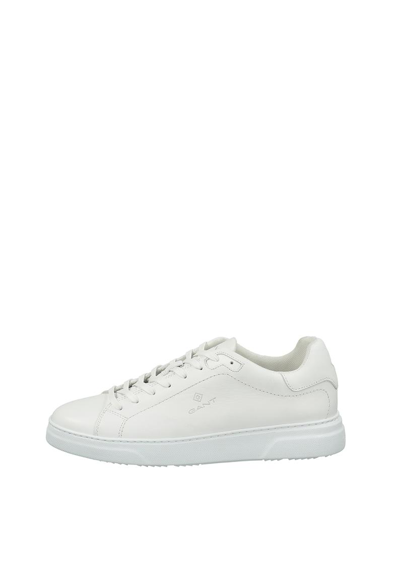 Pantofi sport de piele cu talpa plata