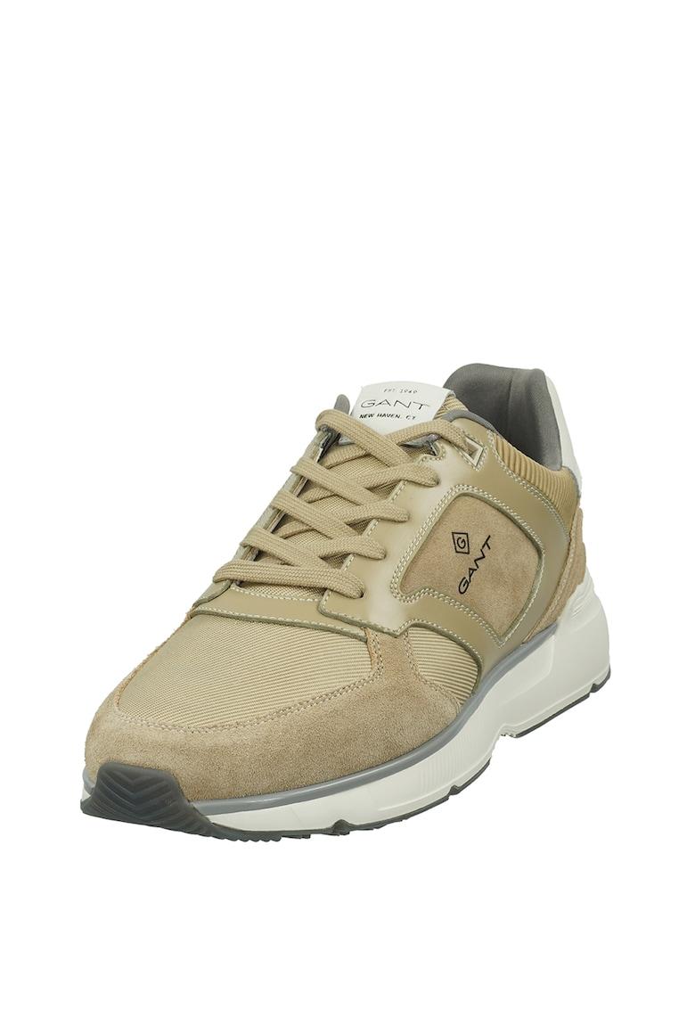 Pantofi sport cu detalii de piele intoarsa