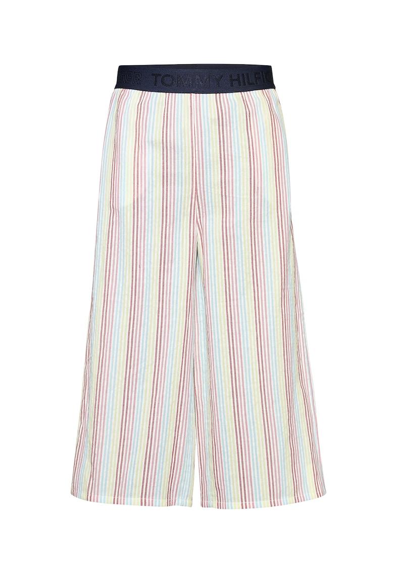 Pantaloni din bumbac organic cu croiala lejera