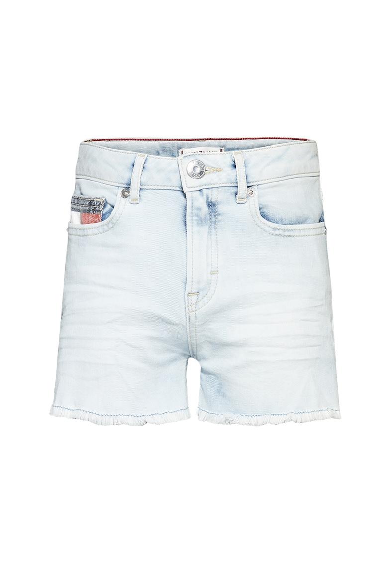 Pantaloni scurti de denim cu aspect decolorat poza fashiondays