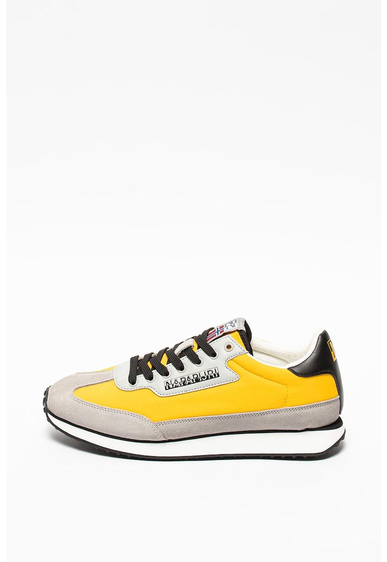 Pantofi sport cu insertii de piele intoarsa Vantage imagine