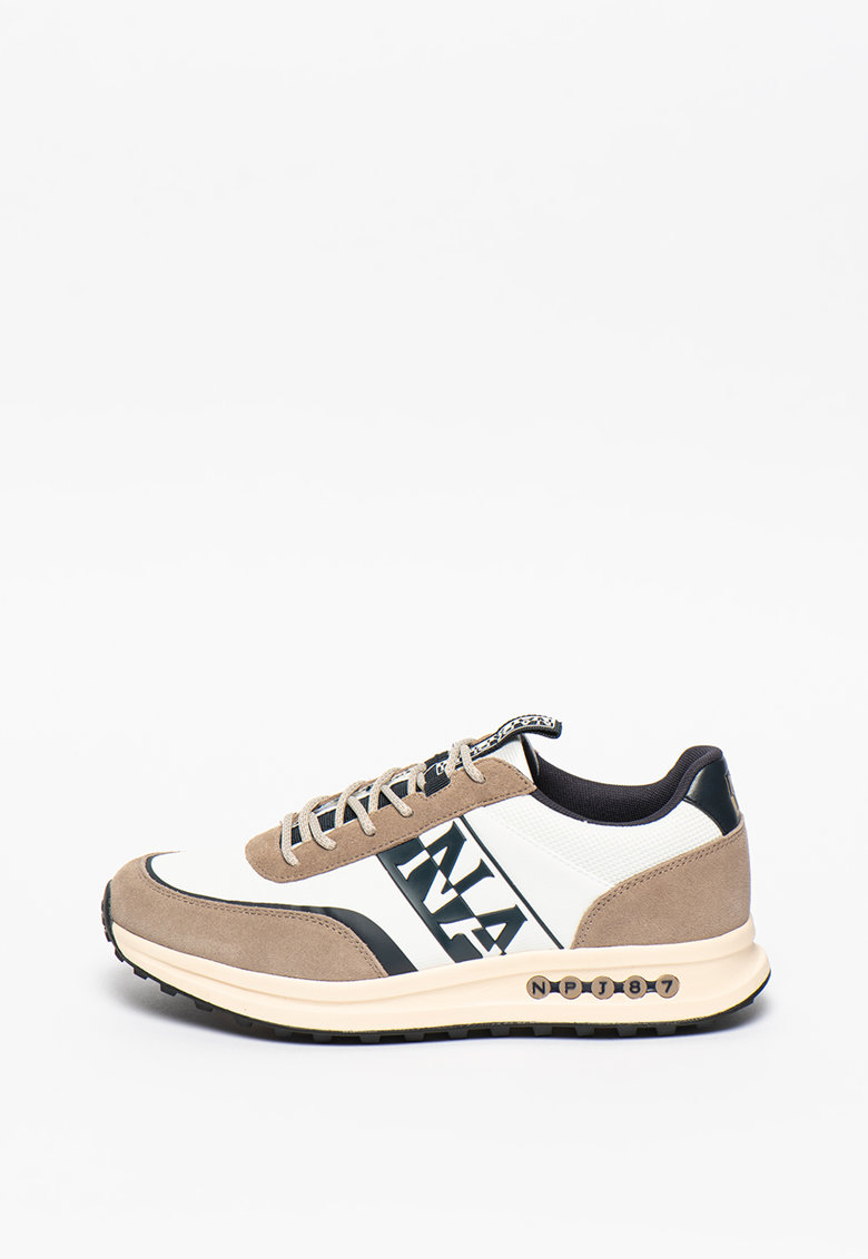 Pantofi sport cu garnituri de piele intoarsa Slate