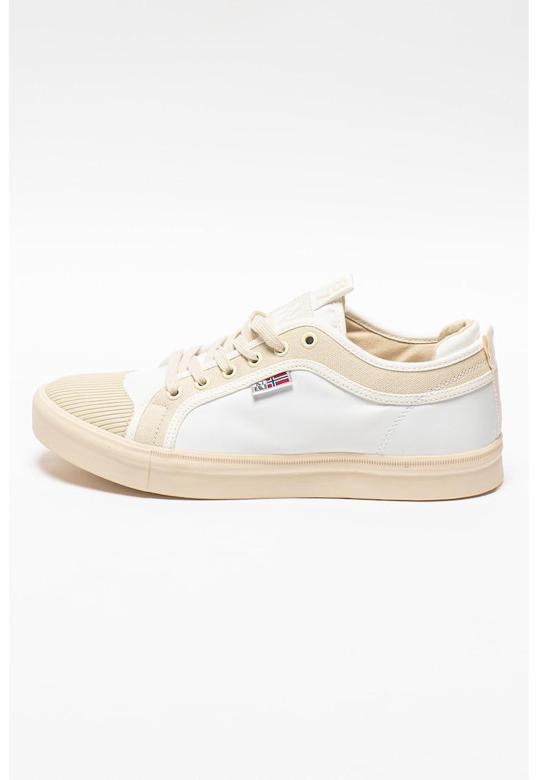 Pantofi sport de piele ecologica si panza Den