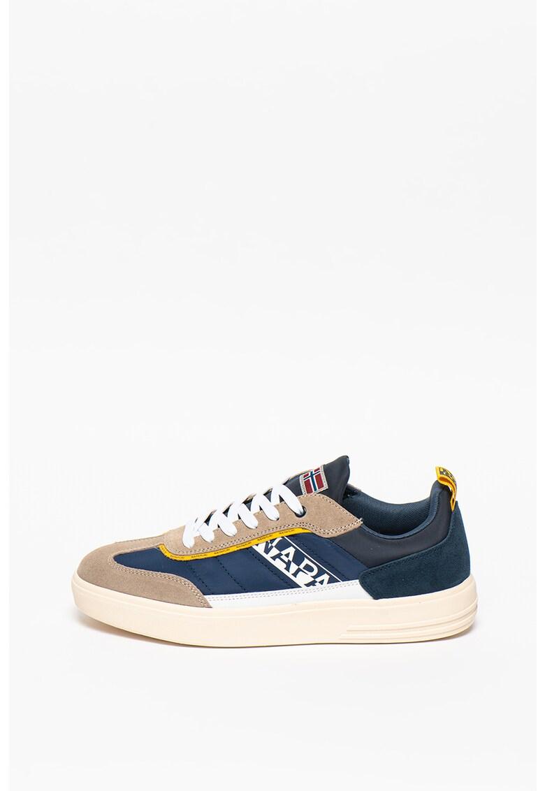 Pantofi sport cu garnituri de piele intoarsa si model colorblock Bark imagine