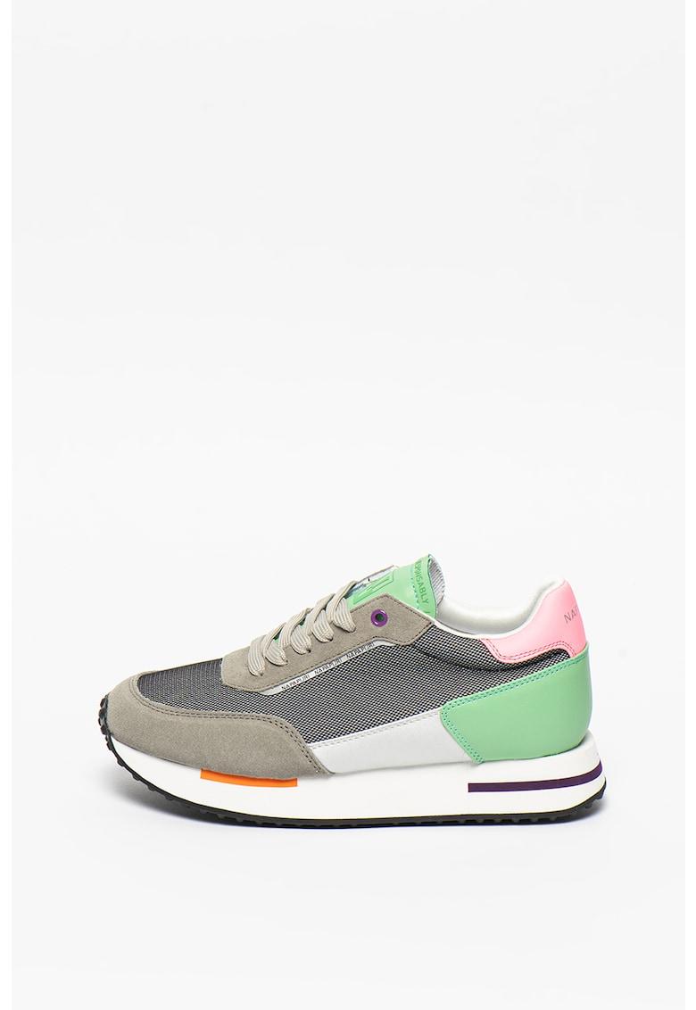 Pantofi sport cu garnituri de piele intoarsa Hazel fashiondays.ro