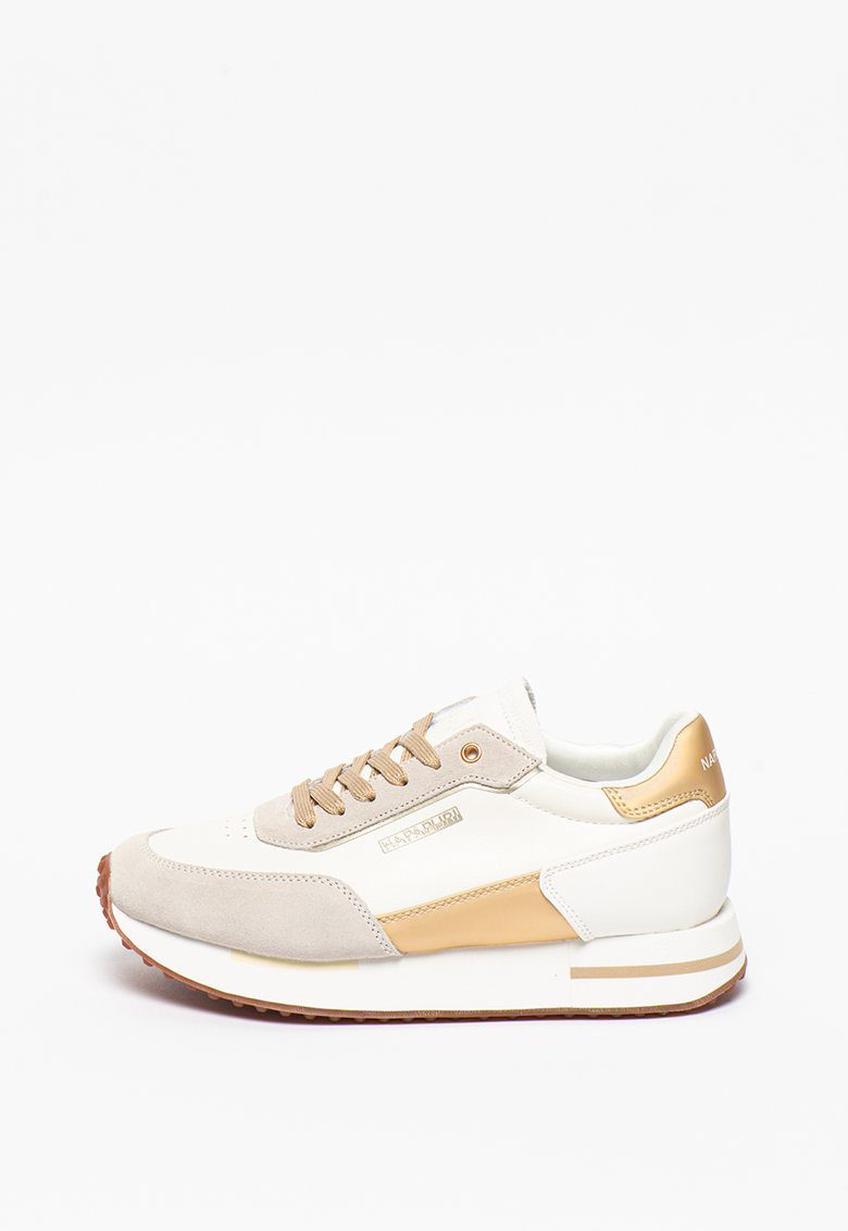 Pantofi sport de piele ecologica cu garnituri de piele intoarsa Hazel