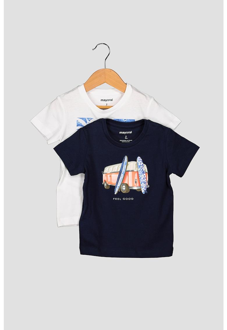 Mayoral Set de tricouri cu imprimeu grafic - 2 piese