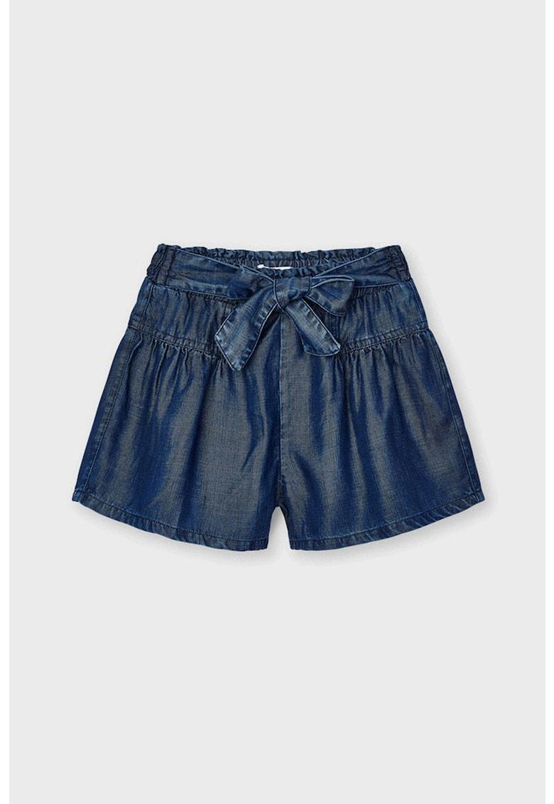 Pantaloni scurti evazati din lyocell