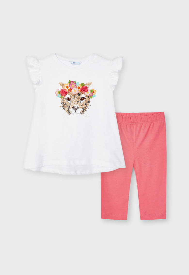Set de tricou si colanti cu micropaiete poza fashiondays