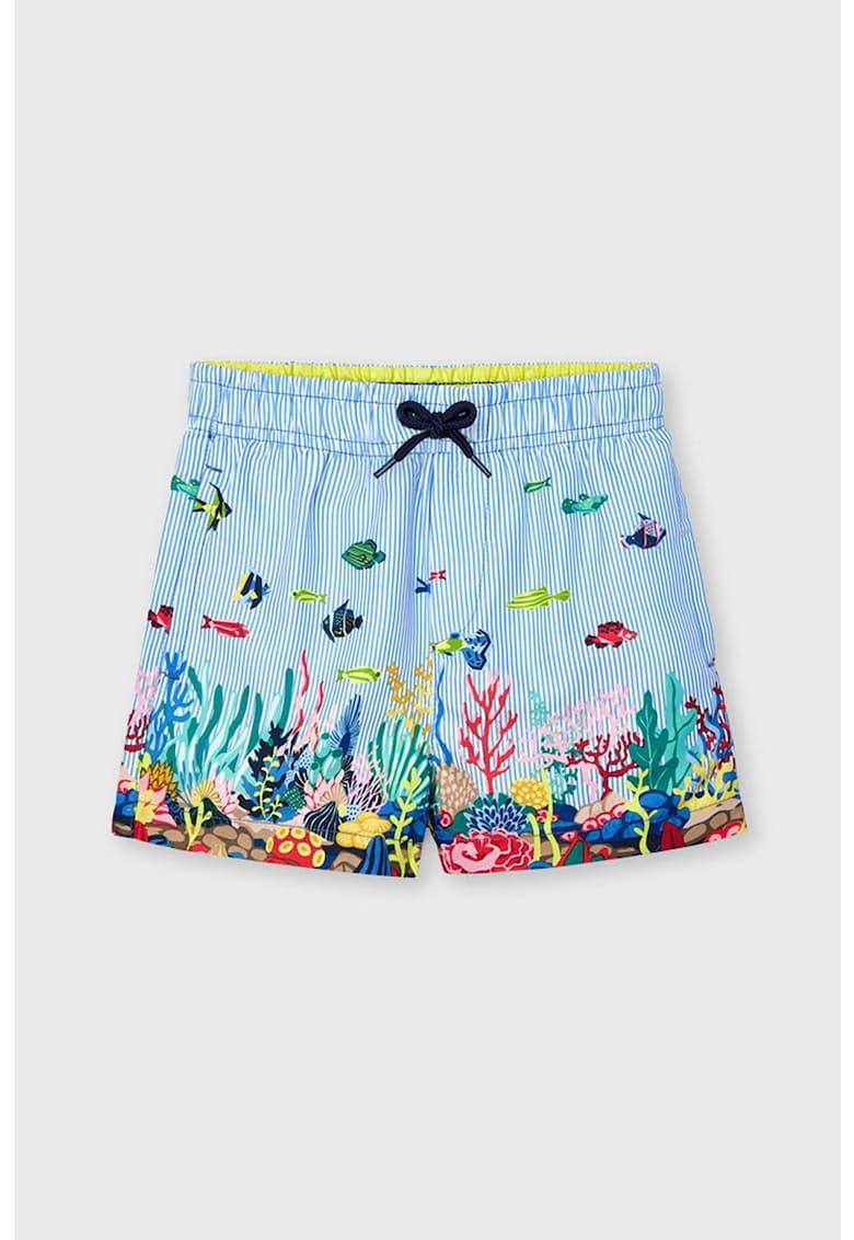 Pantaloni scurti de baie cu model tematic marin imagine promotie