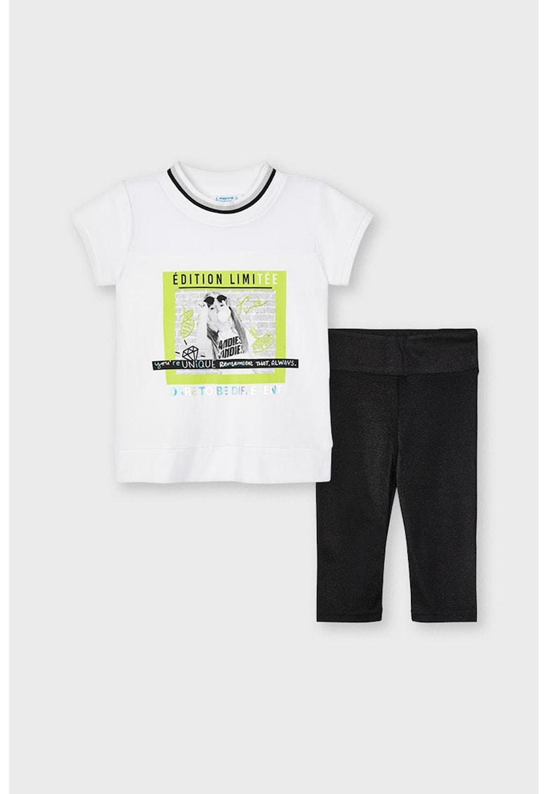 Set de imbracaminte cu imprimeu grafic - 2 piese poza fashiondays