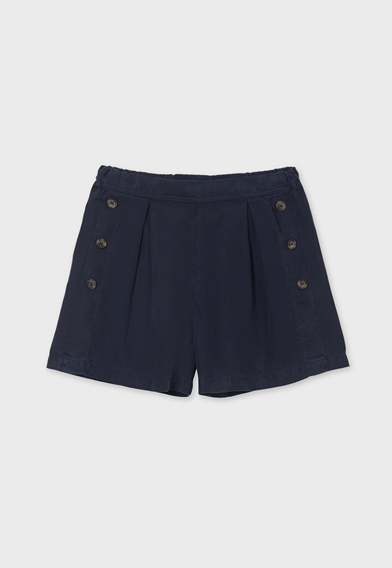 Pantaloni scurti de lyocell cu nasturi decorativi