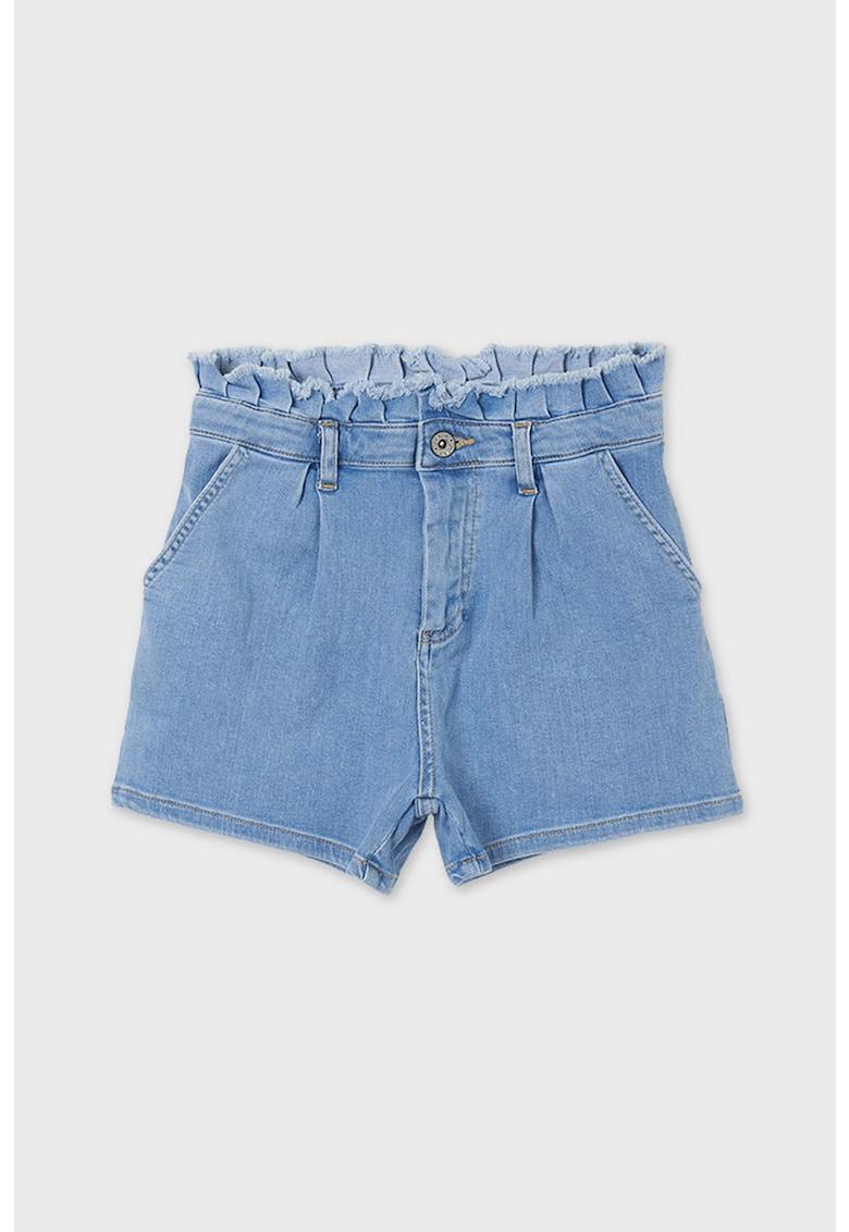 Pantaloni scurti de denim cu talie inalta fashiondays.ro