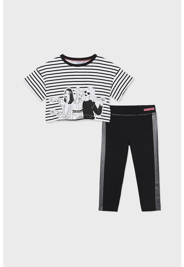 Set de tricou crop si colanti - 2 piese imagine fashiondays.ro 2021